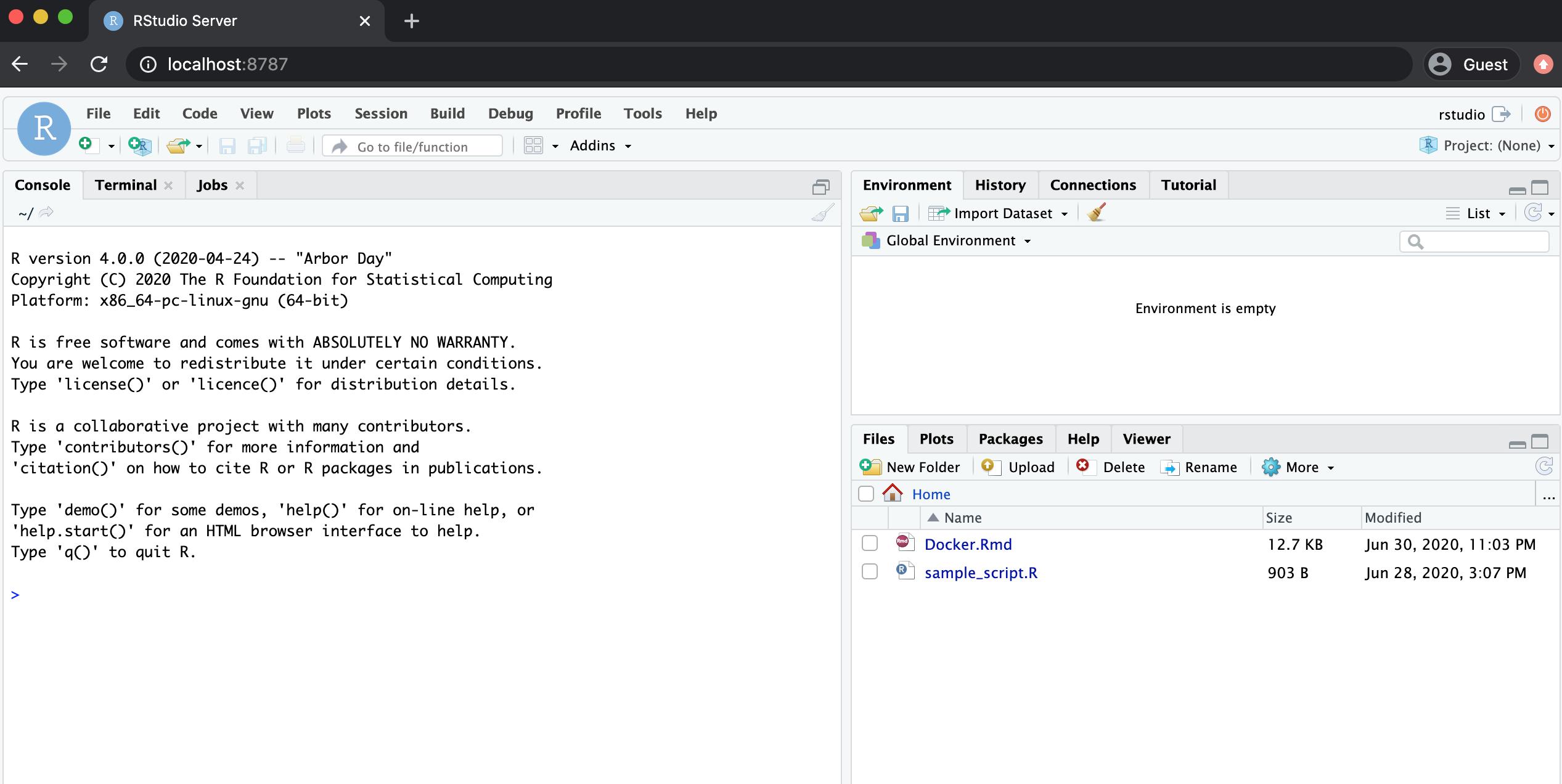 Sharing And Running R Code Using Docker